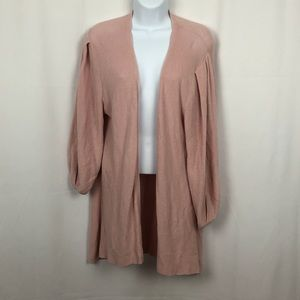 Ann Taylor Cotton open front cardigan sweater L